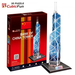 Puzzle Kolekcjonerskie 3D Bank Of China Tower