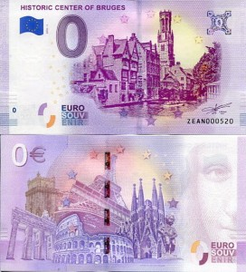 Banknot 0 Euro Belgia - Historic Centre of Bruges