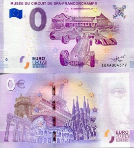 Banknot 0 Euro Belgia - Spa-Francorchamps Racetrack Museum