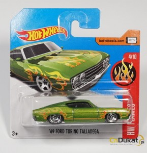 Hot Wheels 2017 r. Ford Torino Talladega 35/365  DTX82