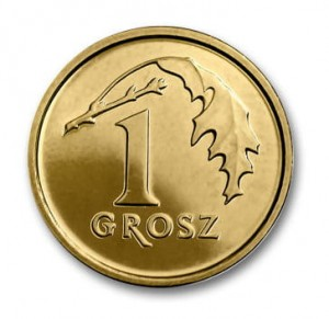1 grosz The Royal Mint 2014 r. Worek