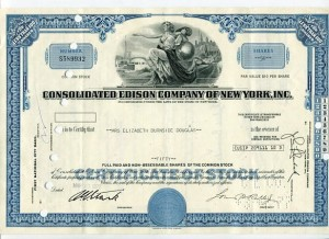 Akcja Consolidated Edison Company Of New York 1972 r.