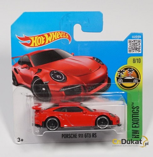 Hot Wheels 2016 r. Porsche 911 GT3 78/250  DHP00