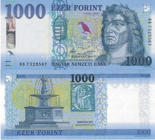 Węgry 1000 Forint 2017 r. UNC
